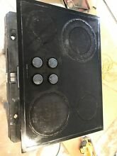 JENN AIR  CCE3400B 30  RADIANT ELECTRIC COOKTOP  BLACK  USED  GREAT WORKING COND