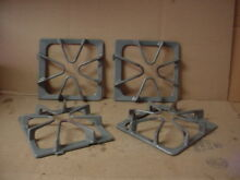 Whirlpool Range Burner Grate Gray w  Stains Wear Lot of 4 Part   8522851 8522850