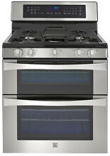 30  W 48  T Kenmore Elite 76033 6 1 cu ft Double Oven Gas Range Convection NEW