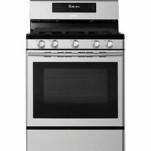 Samsung Samsung NX58H5600SS 5 8 cu  ft  Gas Range with 5 Burner Cooktop   Stain