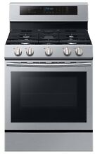 Samsung Samsung NX58M6630SS AA 5 8 cu  ft  Gas Range w  True Convection and Ill