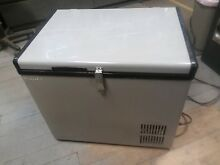 EdgeStar FP430 Wide 1 4 Cu Ft 12V DC Portable Fridge Freezer  pit