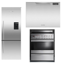 Fisher   Paykel DCS 3 PC Kitchen Package OR30SDPWSX1  DD24SCTX7  RF135BDRUX4N