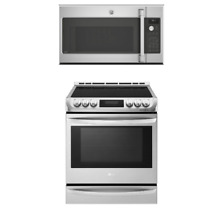 GE Cafe Series Kitchen Package C2S995SELSS Range  CVM9215SLSS Microwave