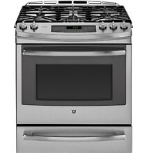 GE Profile PGS920SEFSS 30  Slide In Front Control Gas Range with Warming Drawer