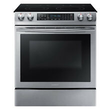 Samsung Samsung NE58K9430SS AA 5 8 cu  ft  Slide In Electric Range   Stainless S