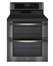 Kenmore Elite 96047 6 7 cu ft Electric Double Oven Convection Black Stainless