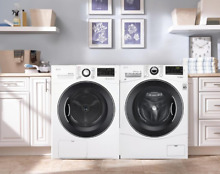 LG WM1388HW DLEC888W White Front Load Washer and Condensing Dryer