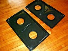 Jenn Air range stove top burner drip pan 3401X055 09   BLACK   Qty  2