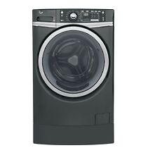 GE GFW490RSKDG 4 9 cu  ft  RightHeight  Design Front Load Washer w  Steam