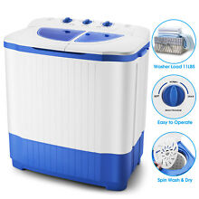 Portable Mini Washing Machine Compact Twin Tub Laundry Washer Spin