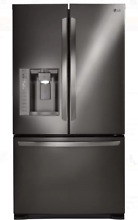 LG LFX25973D 36 Inch Black Stainless Steel French Door Refrigerator