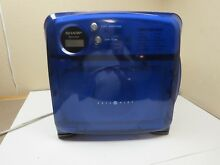 Sharp Carousel Half Pint College Dorm RV Microwave R 120DB Translucent Blue