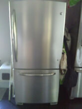 Used GE Series Energy Star 21 cubic foot Bottom Freezer Refrigerator