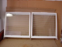 Whirlpool Refrigerator Glass Shelf in Frame Lot of 2 Part   2174042 2174041