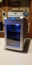 Haier 6 Bottle Wine Cooler Fridge with Manual  Tested   Working  Temp Control