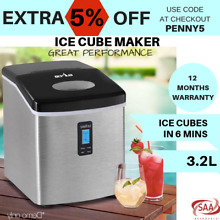 Portable Ice Cube Maker Machine Stainless Steel Benchtop Counter Top 3 2L New