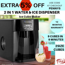 Portable Ice Cube Maker Machine Water Dispenser Home Business Black 2L New
