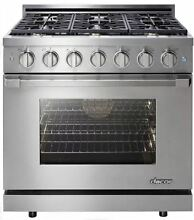 New Dacor 36  Freestanding LP Gas Range Liquid Propane RNRP36GSLP