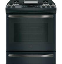 GE  JGS760FELDS 30  Slide In Front Control Convection Gas Range