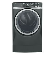 GE GFD49GRPKDG 8 3 cu  ft  RightHeight Front Load Gas ENERGY STAR Dryer w  Steam
