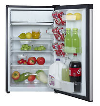 Magic Chef 4 4 cu ft Compact Single Door Refrigerator  Stainless Look