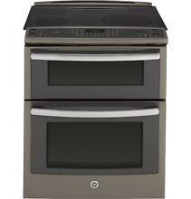 GE Profile PS950EFES 30  Slide In Double Oven Electric Convection Range