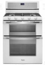 Whirlpool 30  White Ice Freestanding Gas Double Oven Range WGG755S0BH