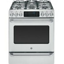 GE CGS985SETSS Caf  Series 30  Slide In Front Control Range with Baking Drawer