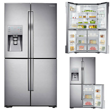 Samsung 23 cu  ft  Counter Depth 4 Door Flex Refrigerator RF23J9011SR