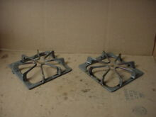 Whirlpool Range Burner Grate w  Some Wear Stains Lot of 2 Part   8522850