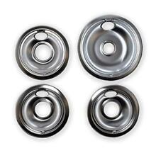 Stove Burner Drip Pans Replacement Whirlpool Range Kitchen 1 Large 8  3 Small 6