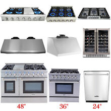 Thor Cooking Gas RangeStoves  Dishwasher Range Hood Wine Cooler Stainless Steel