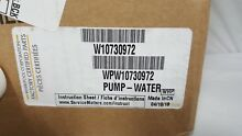Genuine OEM Part WPW10730972 Drain Pump   Motor Assembly for Whirlpool Washers
