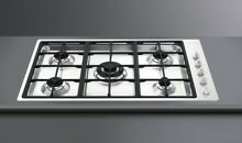SMEG Linea 36  Gas Cooktop Stainless Steel 5 Sealed Burners 35  Wide  w LP Kit