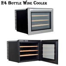 Thor Kitchen 24 Bottle Touchpad Chrome Wire Shelves Freestanding Wine Cooler