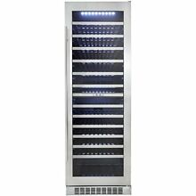 Danby Professional 129 Bottle Dual Zone Built in Wine Cellar Cooler Refrigerator