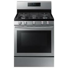 NEW FREE SHIPPING Samsung NX58H5600SS 5 8 cu ft  Gas Range w  5 Burner Stainless