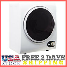 Compact Dryer Machine Small Dorm Apartment Clothes Laundry Electric White Dry US