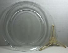 Sharp Carousel Microwave 14 1 4  GLASS Plate   Center Turntable Arm  a82