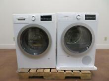 Bosch 500 Series 24  Front Load White Washer and Dryer WAT28401UC   WTG86401UC