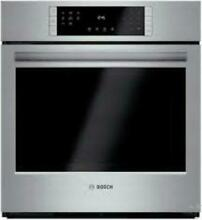 Bosch 27  4 1 cu  ft Eco Clean Convection Single Electric Wall Oven HBN8451UC SS
