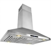 AKDY 36  Convertible Kitchen Island Mount Range Hood Stainless RH0199