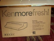 Kenmore Fresh   30  Black Range Hood   Vented or Non Vented   52059