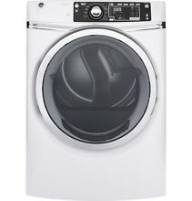 GE  GFD48ESSKWW 8 3 cu  ft  Front Load Electric ENERGY STAR dryer w  Steam