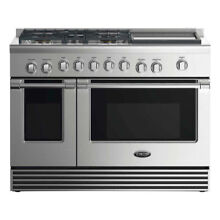 DCS RDV2485GDN 48 Inch Natural Gas Dual Fuel Range with 5 Burners and Griddle