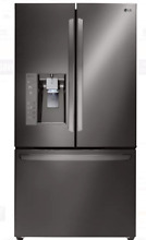 LG LFXC24726D 36 In Black Stainless Steel Counter Depth French Door Refrigerator