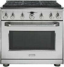 GE Monogram ZGP366NRSS 36  All Gas Professional Range with 6 Burners