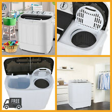 Washer Dryer Combo Set Compact White Portable Electric Machine Top Load Washing