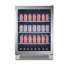 Avallon ABR241SGRH 152 Can 24  Built in Beverage Cooler Right Hinge Freezers